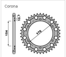 Janua service corona pbr ergal 4562 pignone catena kit for Honda corona service