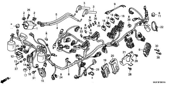 schema motore silver wing
