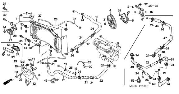 04 honda cbr600rr parts diagram